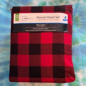 Buffalo Plaid FULL flannel sheet set